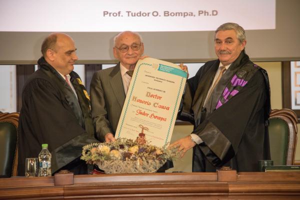 tudor bompa  Grant of DHC Title to Prof. Tudor BOMPA   Politehnica University ...